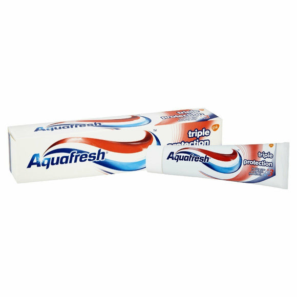 Aquafresh Triple Protection Toothpaste 100ml 1 3 6 9 12 Packs