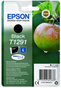 Epson T1291 Apple Genuine Original Black Ink Cartridge For SX445W SX525WD SX425W