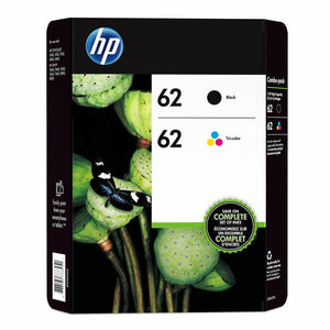HP Original 62 Black & Colour Set Ink (J3M80AE) Envy 5640 5640 7640 5740 OFFICE