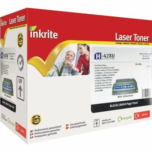 Inkrite Laser Toner H-42XU Cartridge compatible with HP Q1338A 1339A Q5942X 4345