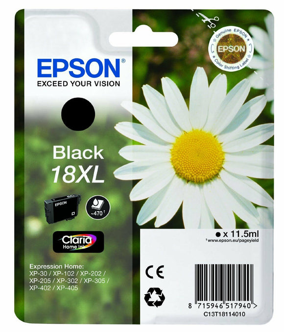 T1811 ( 18XL ) Original Black Ink Cartridge for Epson Expression Home XP-305