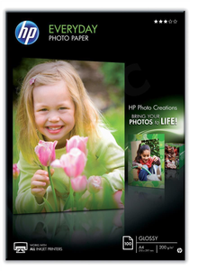 HP Everyday (A4) Glossy Photo Paper (100 Sheets) 200gsm (White) Q2510A Inkjet UK