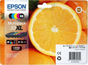 Epson 33XL (C13T33574010) Original High Yield Black & Colour Ink Cartridge Pack