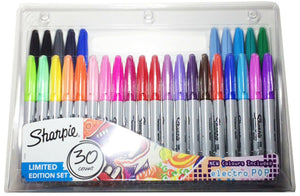 Sharpie Permanent Marker Pens 30 Multi Colour Pack Fine Point - Limited Edition