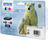 EPSON T2636 26XL ORIGINAL SET OF 4 INKS EISBÄR T2621 T2632 T2633 T2634 IN BOX