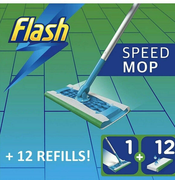 Flash Speedmop Starter Kit All-in-One With 12 Wet Cloth Fast Easy & Hygienic Mop