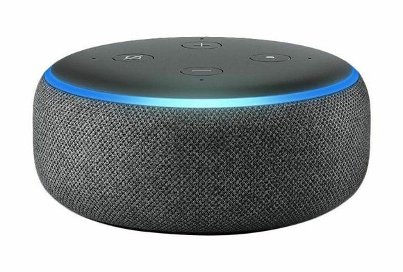 Amazon Echo Dot (3rd Generation) Smart Speaker with Alexa Charcoal Fabric New