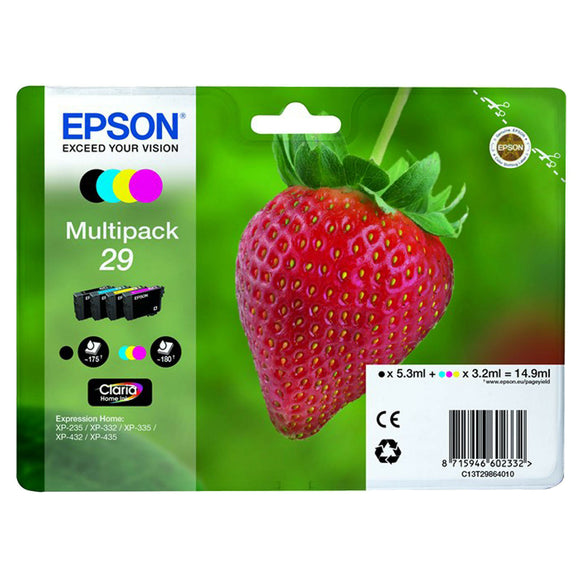 1 Set of T2986 Genuine Epson XP-235 XP-332 XP-335 XP432 XP-435 Ink Cartridge 29 No Box