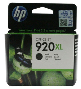 HP 920XL / No.920 XL / 920 XL Black ( CD975AE ) Original Ink Cartridge Genuine