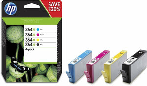 4x Genuine SEALED HP 364XL Black/Cyan/Magenta/Yellow ink cartridges -Expired 4