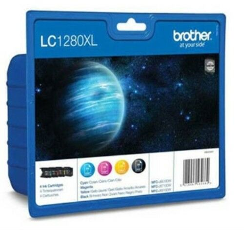 Brother LC1280XL Genuine/Original Ink Cartridges LC1280XLVALBP Black and Colors