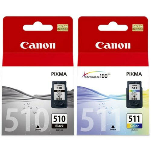 PG-510 CL-511 Black & Color Ink Cartridges for Canon Pixma MP270 MP280 MP495 NEW