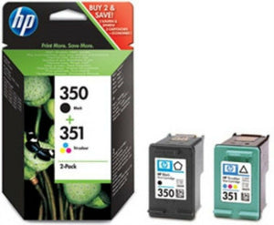 Original HP 350 351 Black Colour Color Printer Ink Cartridges C4480 C4485 C4580