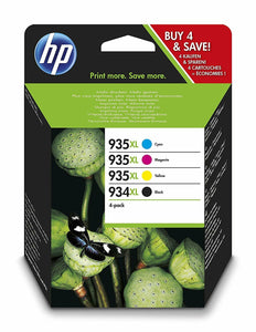 Genuine HP 934XL Black & 935XL C/M/Y Multipack (X4E14AE) Officejet Pro 6230 6830