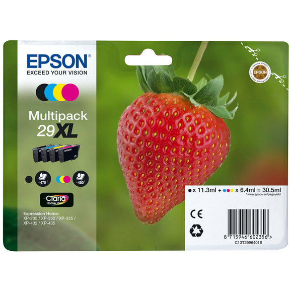 GENUINE EPSON 29XL T2996 Strawberry Multipack Ink for XP-235 332 335 432 435 xp