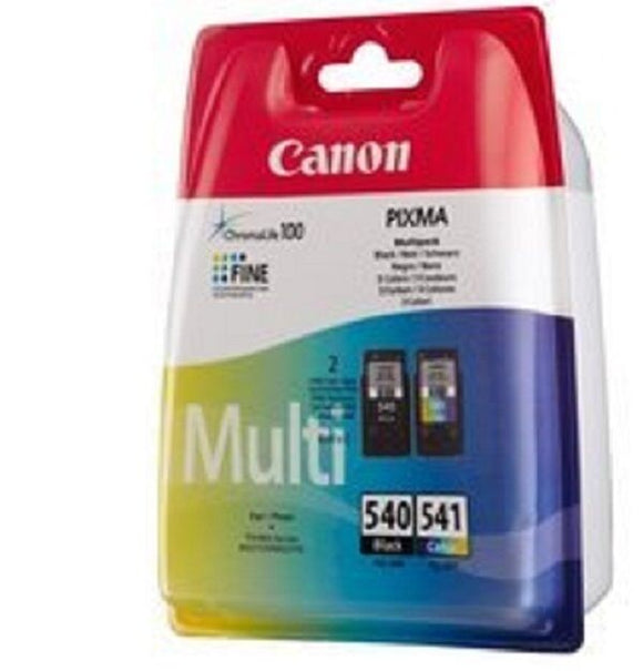 Canon PG540 Black & CL541 Colour Ink Cartridges For PIXMA MG2150 MG3150 MG3550
