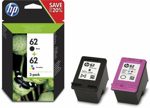 HP 62 Black & Colour Ink Cartridge Combo Pack For ENVY 5740 7640 5640 e-AiO ALL