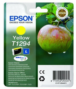 Epson Original T1294 Yellow Ink Cartridge For SX420W / SX425W / 525WD WF3520DWF
