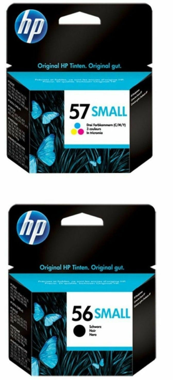 GENUINE ORIGINAL HP 56 small Black 57 Colour Ink Cartridges C6656AG SEALED Unbox