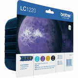LC1220 Brother Multipack Bk,C,M,Y 4 Ink Cartridges for DCP J525W J725DW J925DW