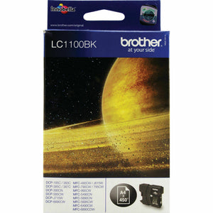 Brother LC1100BK Genuine/Original Ink Cartridges MFC-490CW/790CW/795CW/990CW New