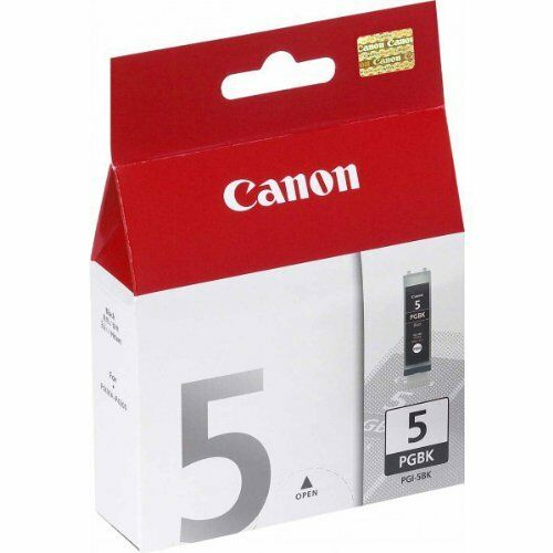 1 x Canon PGI-5Bk, PGI5Bk Original OEM Black Inkjet Cartridge IP 3300 MX 850 700