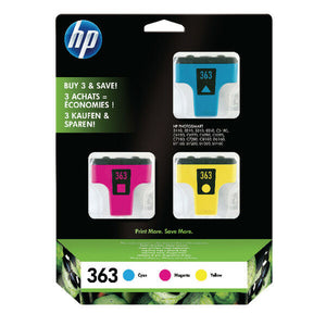 Original Genuine HP 363 Multi Pack 3 Colours Printer Ink CB333EE CMY HP363 D7463