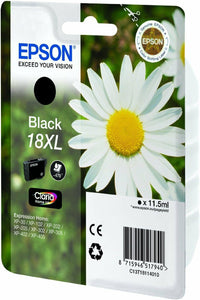 Original Genuine Epson 18XL Black  Ink Cartridge For  XP30 Printer Part of T1816