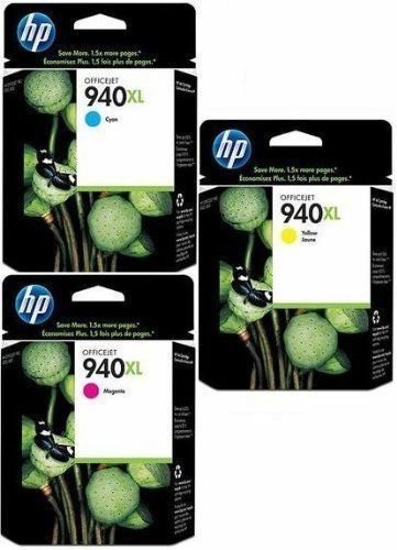 GENUINE HP HEWLETT PACKARD HP 940XL INK CARTRIDGE MULTIPACK 3 PACK C Y M 8000