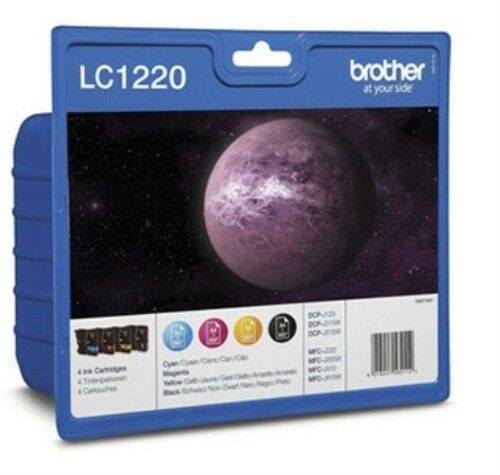 Brother LC-1220 Genuine/Original Ink Cartridges lc1220 LC1220VALBP BLACK CMY 4