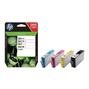 HP 364 4 Pack Inks Plus Photo Paper Premium J3M82AE 3070A 3520 4620 4622 5520 VP