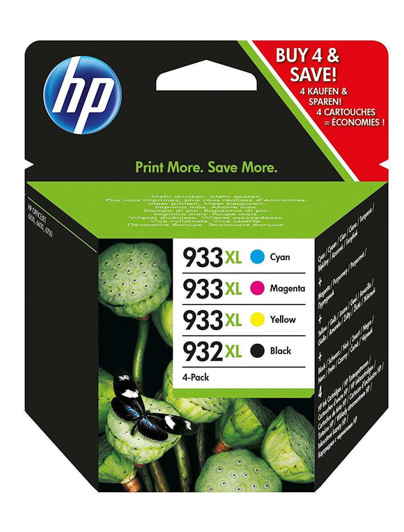 Set of 4 Genuine HP 932XL 933XL Inks OfficeJet 6100 6600 6700 7510 7610 No Box