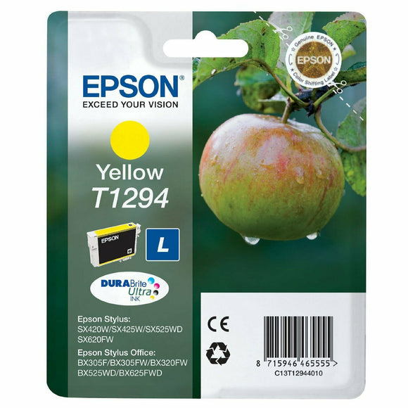 Genuine EPSON T1291 T1292 T1293 T1294 (T1295) Apple Multipack Ink Cartridges Lot