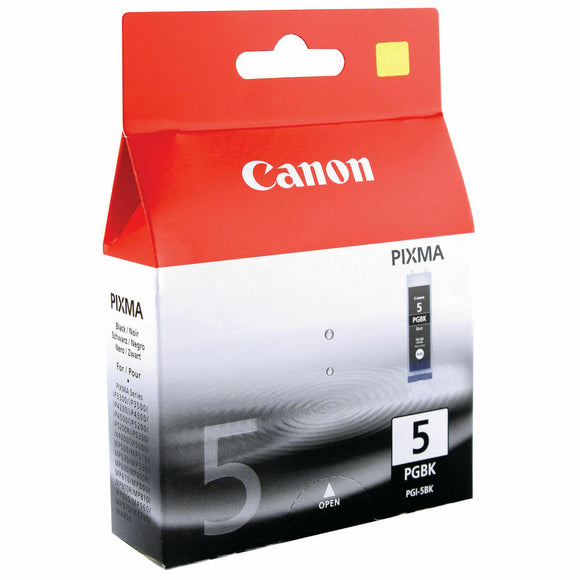Canon PGI-5BK Ink Cartridge For Pixma ip3300 iP4200 iP4300 iP4500 iP5300 iP 3500