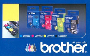 Brother Genuine LC900 4 x  Black Cyan Magenta Yellow Ink Cartridge Multipack