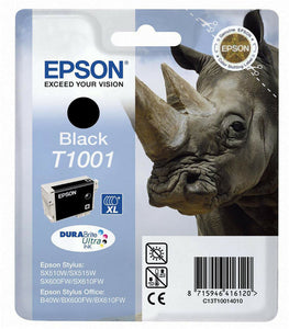 Genuine Epson T1001 Rhino DuraBrite Ultra Black Ink jet Print Cartridge, T100140