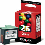 LEXMARK Original No 26 Color Ink Cartridges 10N0026E Z600 I3 Colour X1200 X2200