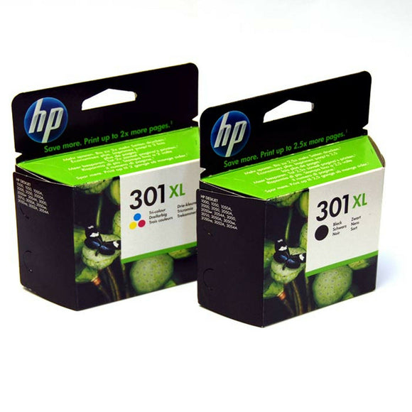 Original HP 301XL Black & Colour Combo for HP Deskjet 2050 2540 4500 2544 301 XL
