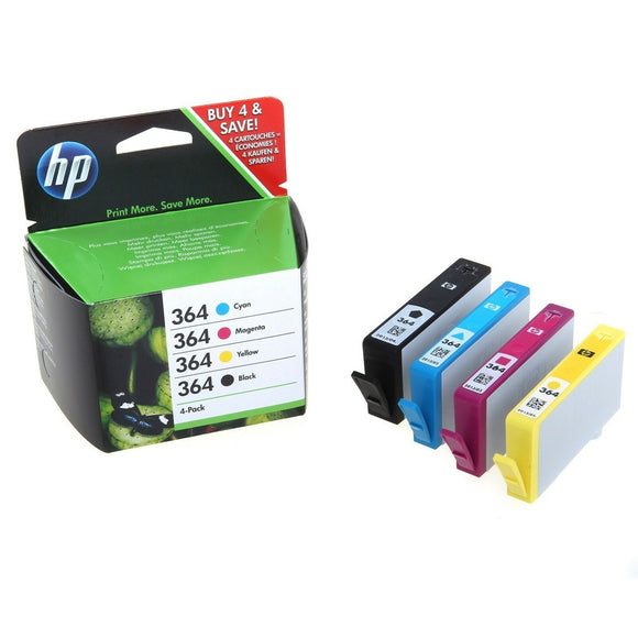 4 HP 364 INK CARTRIDGE PHOTOSMART B109a B110a B209a B210a C309a C410 5515 5510