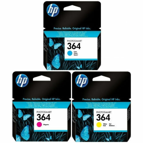 Original Genuine HP 364 Cyan Magenta Yellow Ink Cartridges For C6380 5520 6510