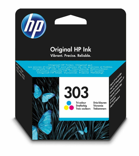 Original HP 303 Colour Ink Cartridge For ENVY Photo 6234 7830 6232 6230 Printer