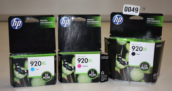 HP Genuine 920XL Black Cyan Magenta Ink Cartridges 920 XL Original CD975AE 7500A