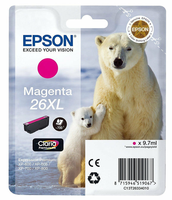 T2633 (26XL) Genuine Magenta Ink Cartridge for Epson XP-700 XP-600 XP-800 XP-605