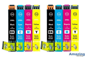 2 Set Compatible Multipack 8 Ink Cartridges For 29XL T2996 C13T29964010