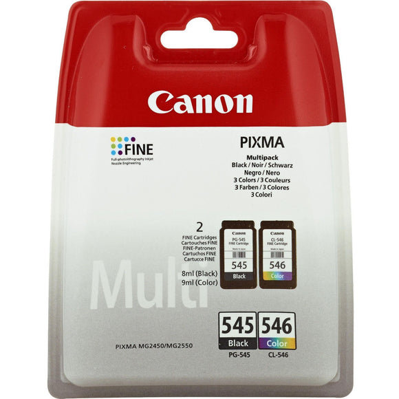 Genuine Canon PG545 Black & CL546 Colour Cartridge For PIXMA MG2550 (8287B005)