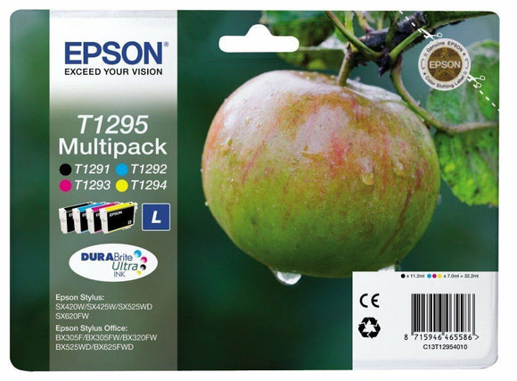 Genuine Original Epson T1295 - T1291 T1292 T1293 T1294 Combo Pack Ink Cartridges