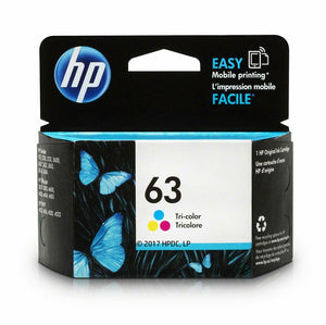 Genuine HP 63 Standard Yield Tri-Color Inkjet Print Ink Cartridges F6U61A 4650