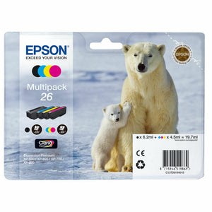 Genuine Epson 26 Multipack T2616 Ink Cartridges Expression XP-710 XP-700 XP-510