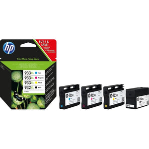 Set of 4 Genuine HP 932XL 933XL Inks OfficeJet 6100 6600 6700 7100 7510 7610 aio