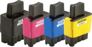 Brother Genuine LC900 4 x  Black Cyan Magenta Yellow Ink Cartridge Set Pack 900
